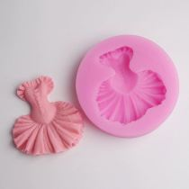 BD003 Dress Silicone Mold Forma Silicone Fondant Decorating Tools Fondant Mold