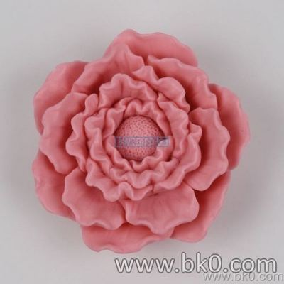 BJ008 Big Size 3D Flower Peony Decoration Silicone Soap Mold Cake Decorating Moule Baking Tools For Cakes