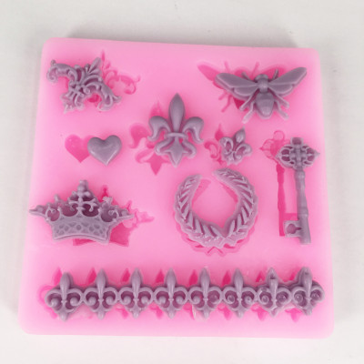 BK1038 Boy Fondant Cake Silicone Mold Chocolate Candy Molds Cake Decoration