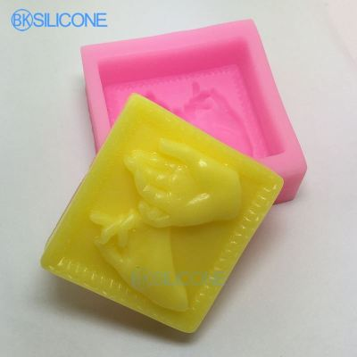 Hand Silicone Soap Mold Candle Mould Wedding Carft Molds AN011