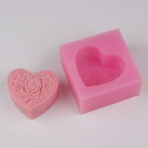 BF021 heart shaped silicone soap mold rose silicone mold chocolate molds soap mould 3D