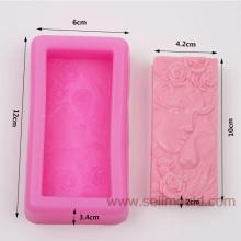 Flower Silicone Soap Molds Craft Moulds Diy Handmade Candle Molds Beauty Girl And Lions AY013
