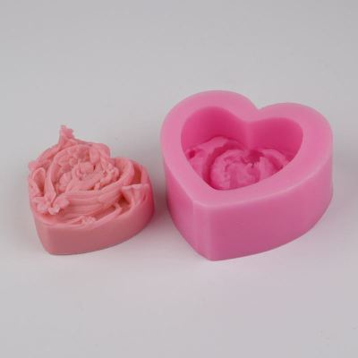 BH003 Angel Baby Soap Molds heart shaped Silicone Molds Craft Molds Cake Moulds