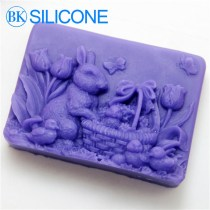Direct Selling Silicone Soap Molds Flowers Basket Rabbit Tulips Silica Gel Mould Silicon Mould Form AG004