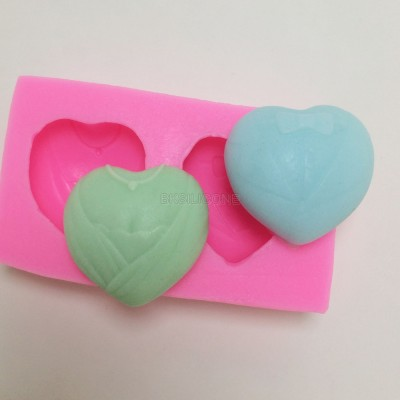 BM021 Bride Groom heart shaped Fondant Silicone Molds Chocolate Wedding Design Mold