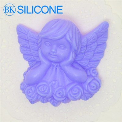 Rose Angel Silicone Soap Molds Chocolate Mould Cake Decorating Tools AF006