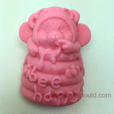 Bees Bear Decoration Soap Mold Resin Clay Candy Silicone Cake Mould Fondant Cake Decorating Tools Bakeware AU025