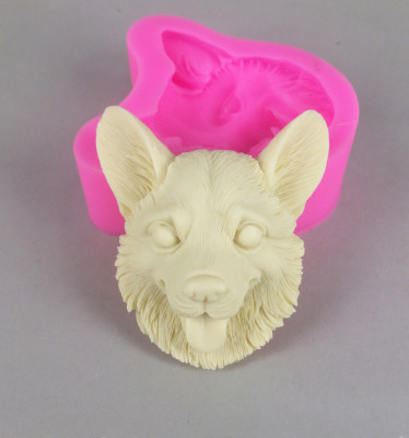 BK1101 Dog silicone mold Chocolate mould Cake decorating mold Perfumed plaster mold