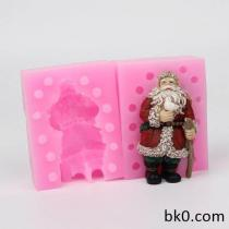 3D Peace Dove Christmas Santa Claus Father Candle Mold Handmade Soap Silicone Mould WC012