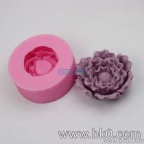 BJ009 3D Flower Peony Silicone Soap Mold,Molds Silicone Forms For Cake, Silica Gel Mould,Silicon Moulds Wholesale