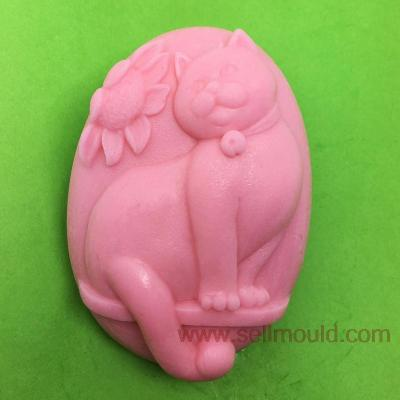 Cat Art Silicone Soap Molds Craft Mold DIY Handmade Soap Mold AV004