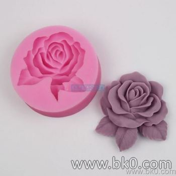 BJ005 Big Rose Flower Silicone 3D Mold Cake Decoration Fondant Biscuit Molds Soap Chocolate Mould