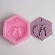 BD021 Craft Art Silicone Soap mold Craft Molds soap molds Wedding Kiss Fondant Cake Decorating Tools