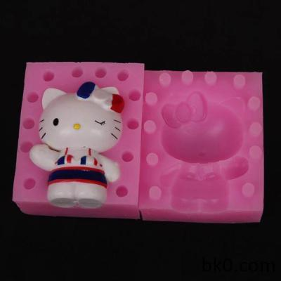 3D Silicone Cake Molds Chocolate Candle Soap Mould Cat Cake Decorating Tools BKSILICONE WB006