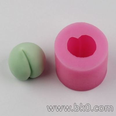 BI018 3D peach Shaped silicone Soap Mold Resin Clay Chocolate Candy Silicone Cake Mould Cake Decorating Tools