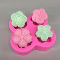 BK1087 flower Silicone molds soap molds silica gel die Aroma stone moulds candle mould