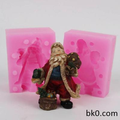3D Christmas Santa Claus Shape Silicone Mold Cake Decorating WC018