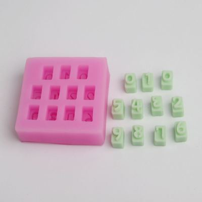 BC012 0-9 10 Beautiful Numbers 3D Silicone Mold chocolate Cake Decorating Fondant Mold