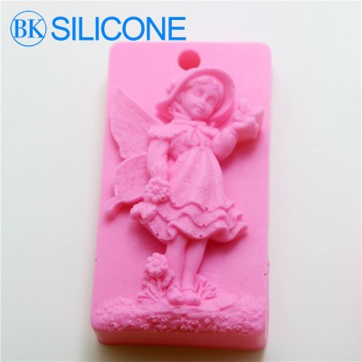 Hot Sale Angel Silicone Soap Molds Girl Modelling Cake Decoration Mold AF015