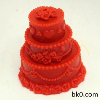 New Style 3d Three Layer Cake Molds Silicone Candle Mold Crafts Diy Mould Handmade Moulds AC021