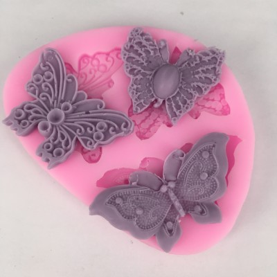 BK1020 New Arrival butterfly Butterfly Shape Fondant Cake Silicone Mold Chocolate Candy Molds Cake Decoration