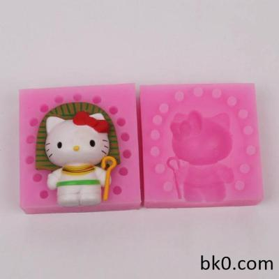 3d silicone candle molds cartoon cat moulds chocolate plaster mould cake decorating tools bksilicone WC002