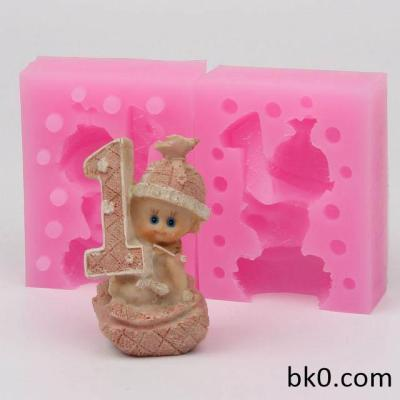 3d Baby Birthday Silicone Mold For Soap And Candles Making Baby Mould Diy Craft Molds WE001