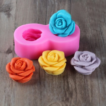 3D Rose Silicone Candle Molds Silicon Soap Cake Mold Formas AF022