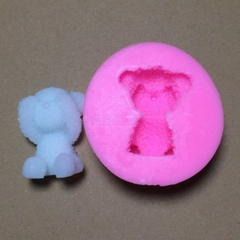 BM003 Cute Bear Silicone Soap Mold Fondant Cake Decorating Tools Sugarcraft Cake Chocolate Mold Gum Paste Candle Moulds