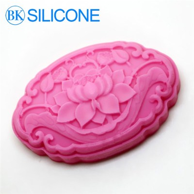 Lotus Flowers 3d Silicone Cake Fondant Mold Cake Decoration Tools Soap Candle Moulds AF016