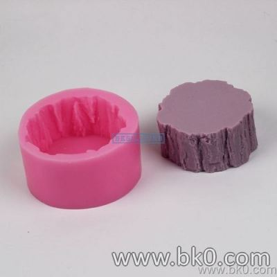 BJ003 New Arrival Tree Stump Fondant Cake Silicone Mold Sugarcraft Decorating Template Soap Mold