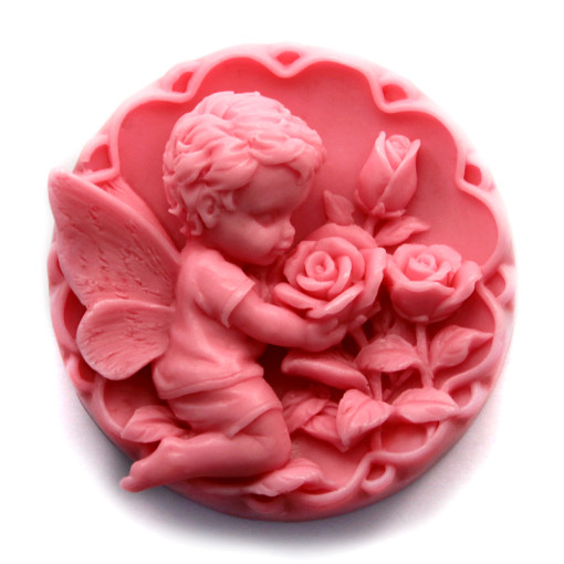Silicone Soap Molds Angel Baby Rose Chocolate Mold Cake Mould AA016