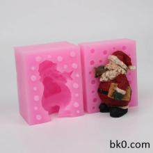 Trumpet Santa Claus 3D Silicone Christmas Molds Resin Candle Mould Clay Craft Mold WC011