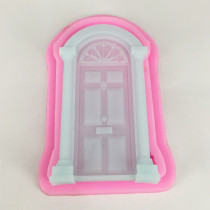 BK1068 Retro Door Cake Border Silicone Molds Christmas Fondant Cake Decorating Chocolate Moulds