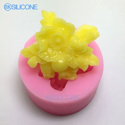 Flower Silicone Cake Mold Soap Candle Mould DIY Carft Molds AN008