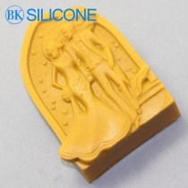Sweet Happy Wedding Silicone Molds Cake Mold Soap Mold Rtv Silicone rubberr AA018
