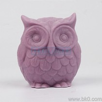 BH021 owl 3Dsilicone Soap Mold Salt Sculpture Silicone Molds Craft Cake Decoration