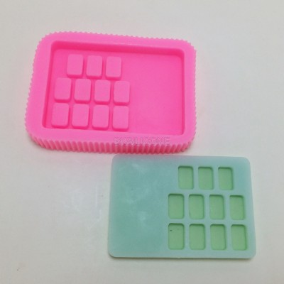 BM024 Digital silicone cake decoration fondant soap mold