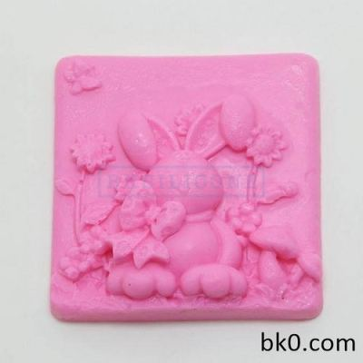 New Flower Rabbit Soap Silicon Molds Cake Decorating Baking Tools AD006