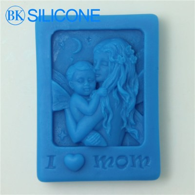 I Love Mom Craft Art Silicone Soap Mold Craft Molds Diy Mother'S Day Gifts Top Fashion AG015