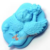 New Arrival 3D Baby Angel Silicone Soap Mold Cake Candle Moulds Mould AK014