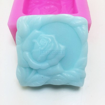 BL022 Creative Rose Silicone Soap Mould Cake Mold Resin Mold Cake Baking Tools Silicone Soap Mold