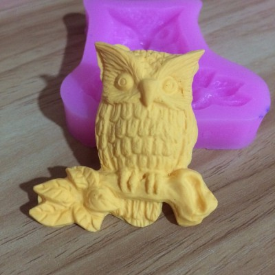 Owl DIY Silicone 3D Cake Fondant Molds S1019