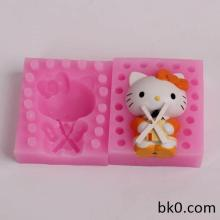 Pieces Beautiful Cat Shape 3D Fondant Silicone Mold Candle Chocolate Sope Moulds Sugar Craft Tools Bakeware WB013