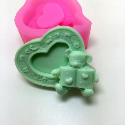 Heart Shaped Silicone Mold Love Bear Soap Mould Cake Molds AM006