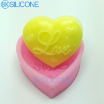 Love Silicone Heart Shaped Soap Mold Mould Candle Polymer Clay Molds Crafts Chocolate Forms AO001