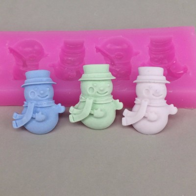 U1017 snowman Fondant Cake Decorating Tools Chocolate Moulds Polymer Clay Resin Candy Fimo Molds