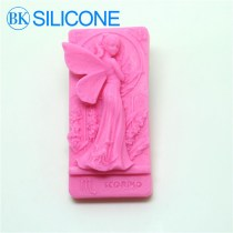 DIY Handmade Soap Silicone Mold Fairies Flower Molds Angel Beautiful Girl Candle Mould Form of Cake Tools AH022