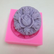 BN016 Rose Flower Shaped Soap Mold,Resin Clay Chocolate Candy Silicone Cake Mould