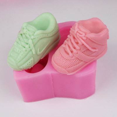 BG016 sport shoes silicone mold customized handmade silicone rubber soap Molding Cake Decorating Tools